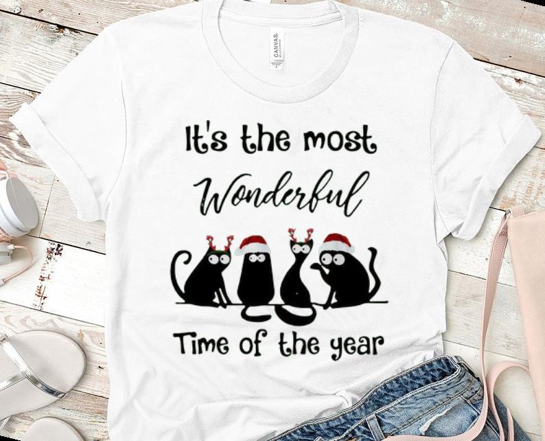 Pretty Christmas Cats It S The Most Wonderful Time Of The Year Shirt 1 1.jpg