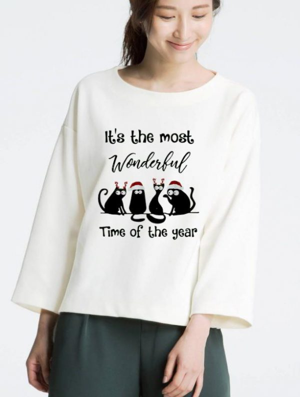 Pretty Christmas Cats It S The Most Wonderful Time Of The Year Shirt 3 1.jpg