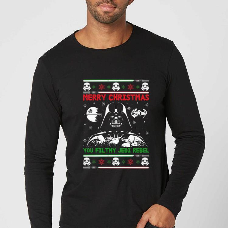 Pretty Darth Vader Star Wars Merry Christmas You Filthy Jedi Rebel Ugly Christmas shirt