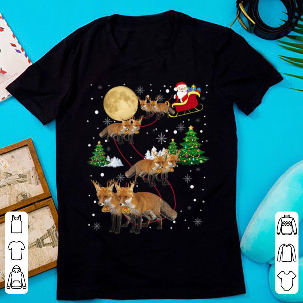 Pretty Fox Tree Christmas Sweater Xmas Pet Animal Lover Gifts Shirt 1 1.jpg