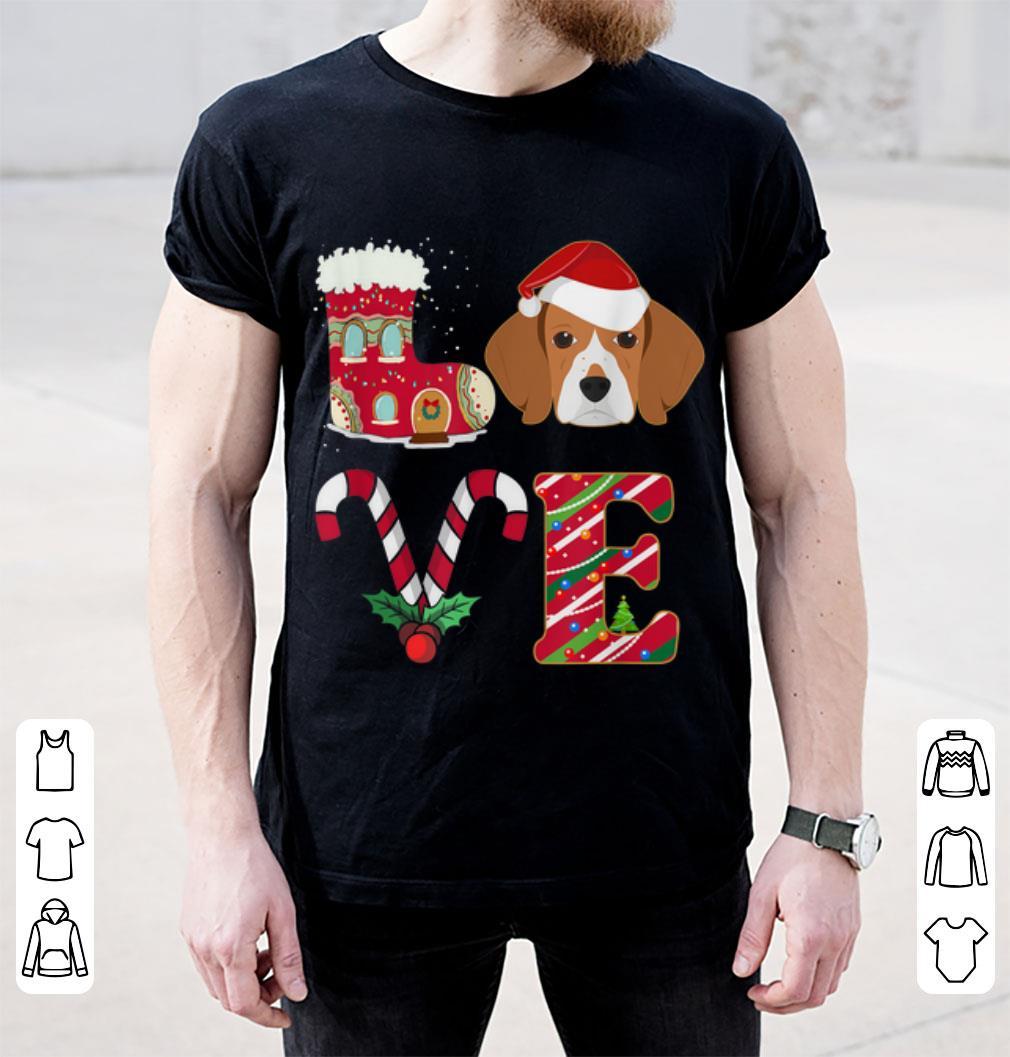 Pretty I Love My Beagle Funny Christmas Beagle Dad Mom Gift Shirt 2 1.jpg