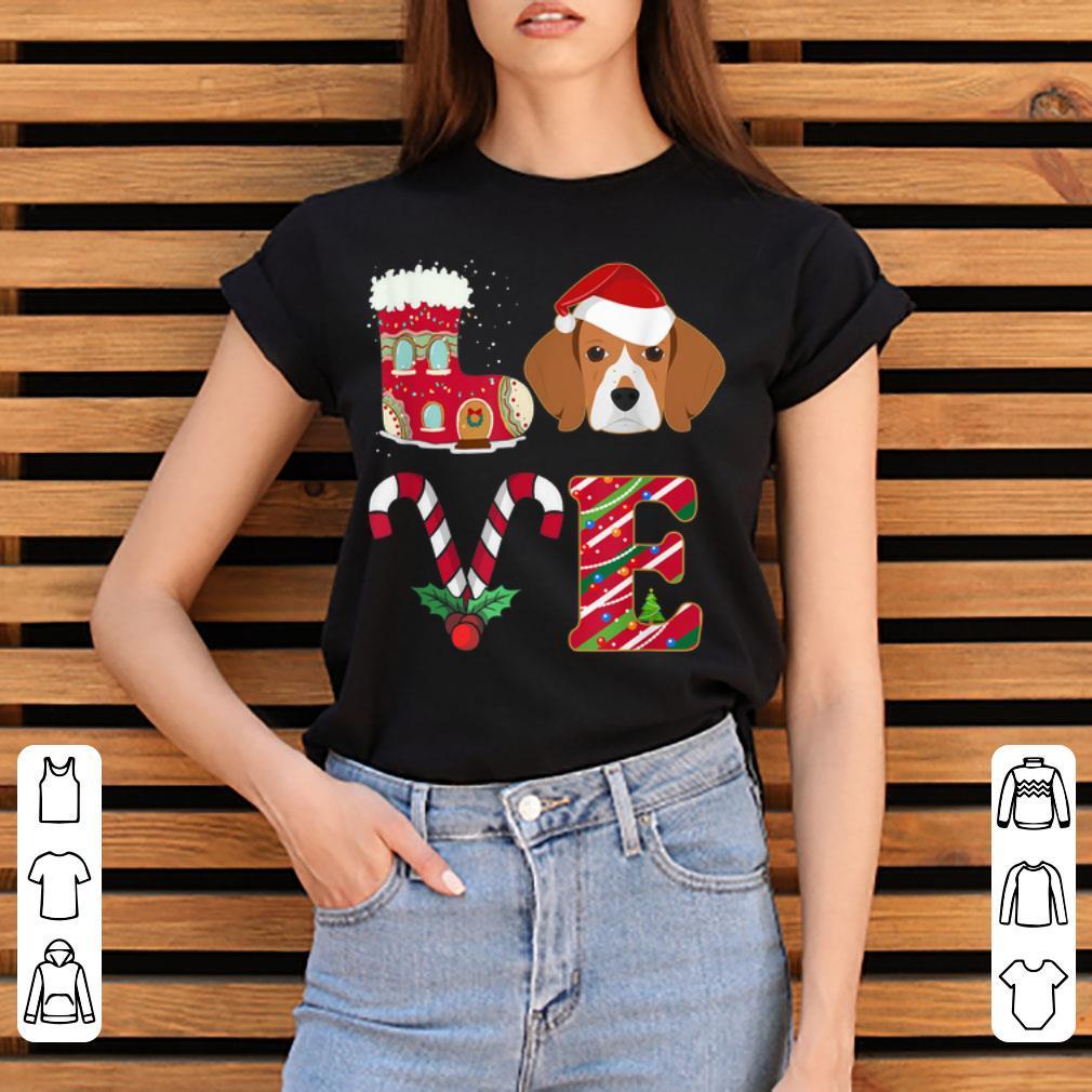 Pretty I Love My Beagle Funny Christmas Beagle Dad Mom Gift Shirt 3 1.jpg