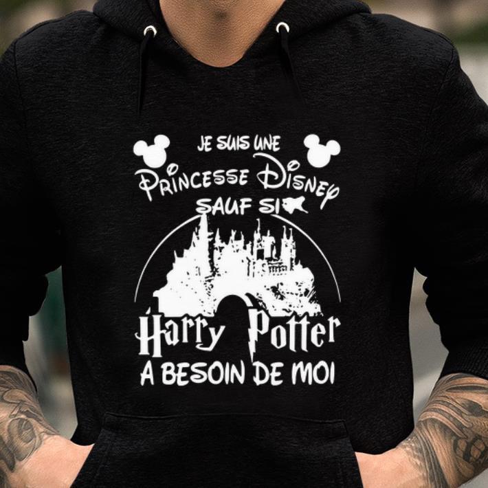 Pretty Je Suis Une Princesse Disney Sauf Si Harry Potter A Besoin De Moi Black Shirt 2 1.jpg