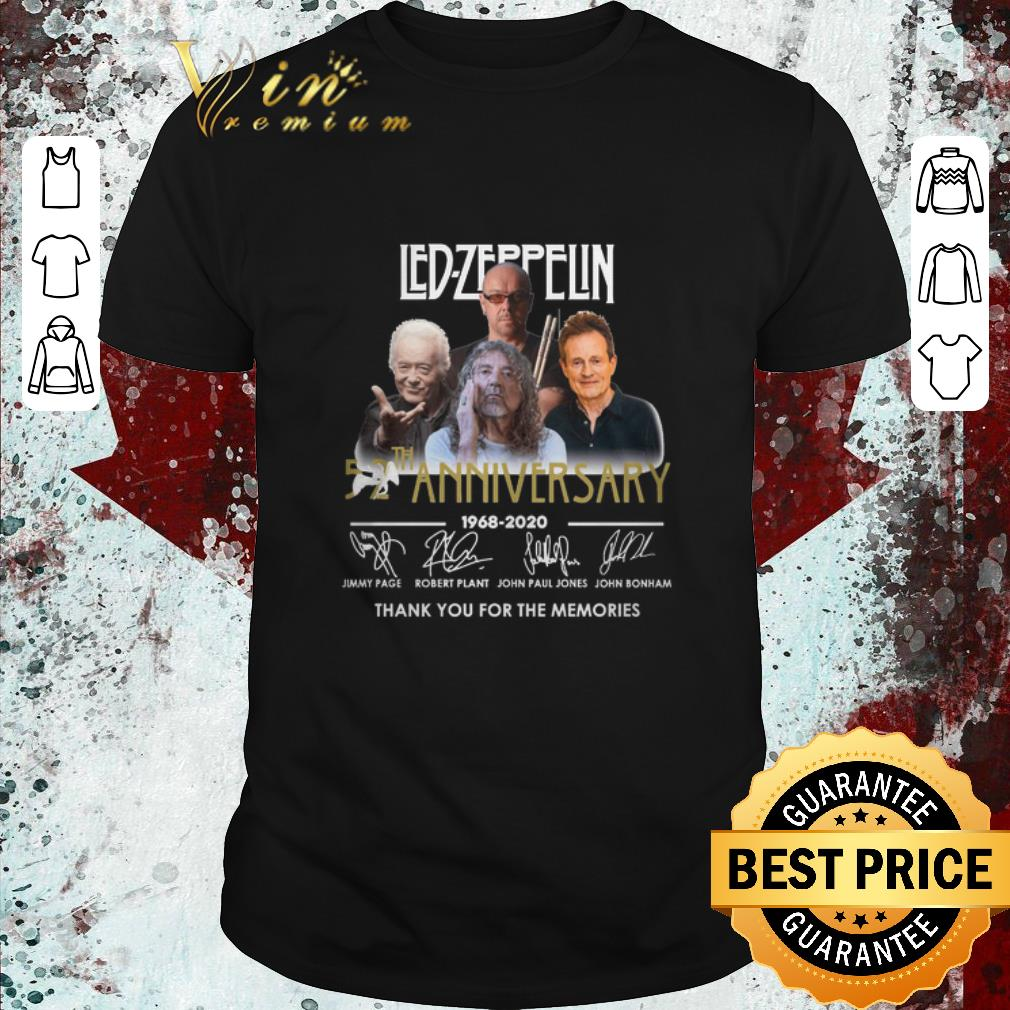 Pretty Led Zeppelin 52th Anniversary 1968 2020 Signatures Thank You For The Memories Shirt 1 1.jpg