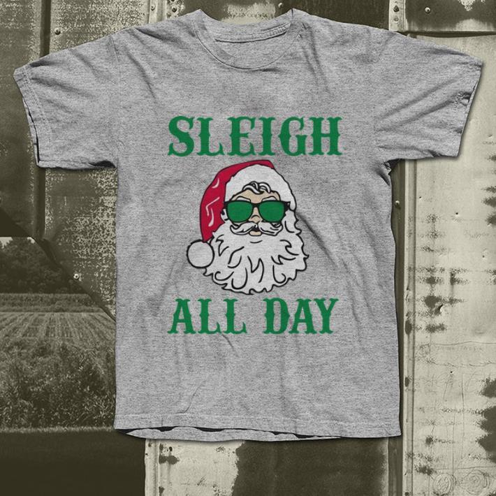 Pretty Santa Claus Sleigh all day Christmas shirt