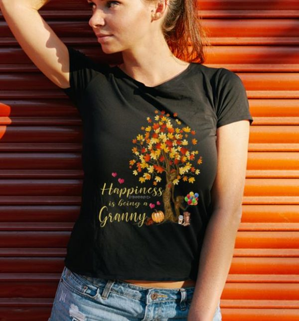 Pretty Womens Happiness Is Being A Granny Autumn Thanksgiving Shirt 3 1.jpg