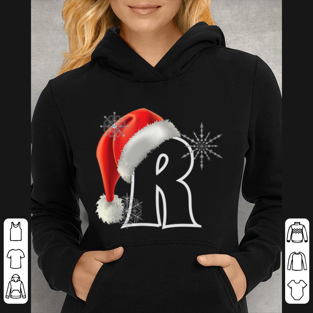Top Cutest Capital Letter R Santa Monogram Christmas Holidays shirt