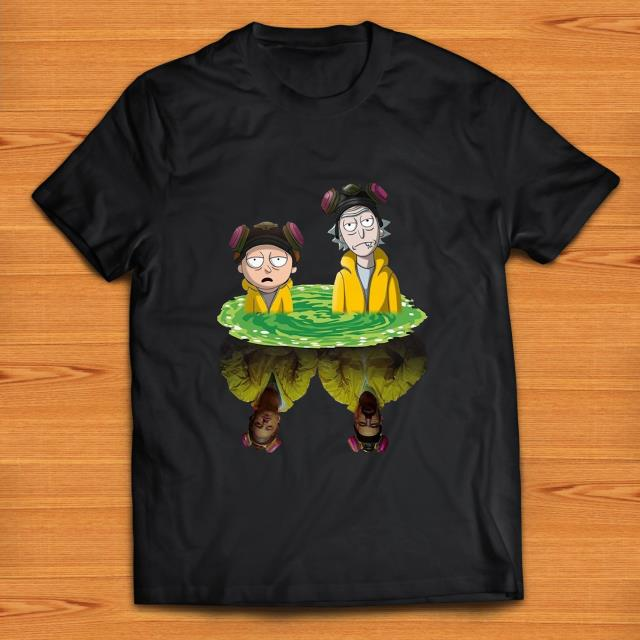 Top Rick And Morty And Breaking Bad Reflection Mirror Shirt 1 1.jpg