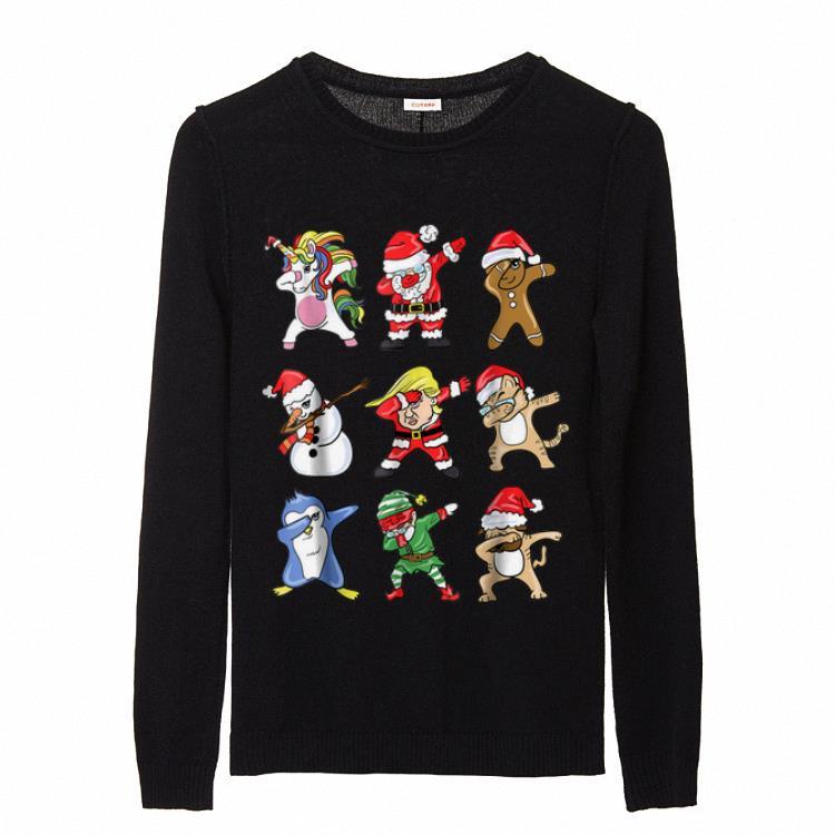 Awesome Funny Dabbing Santa Claus Donald Trump Elf Sweater 2 1.jpg