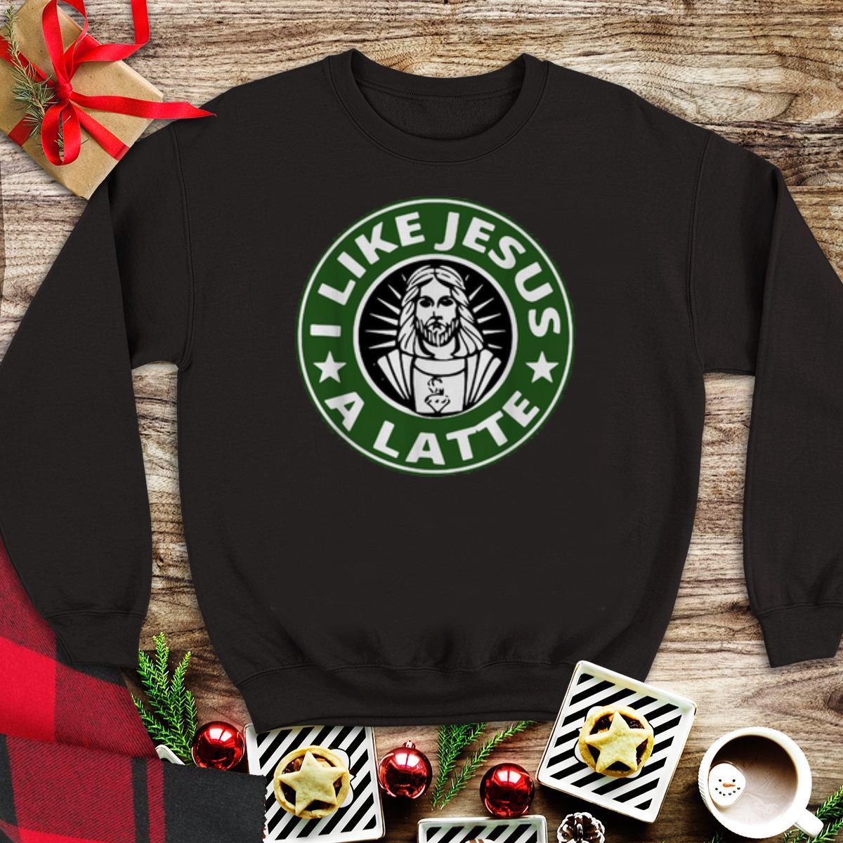 Awesome I Like Jesus A Latte Sweater 1 1.jpg