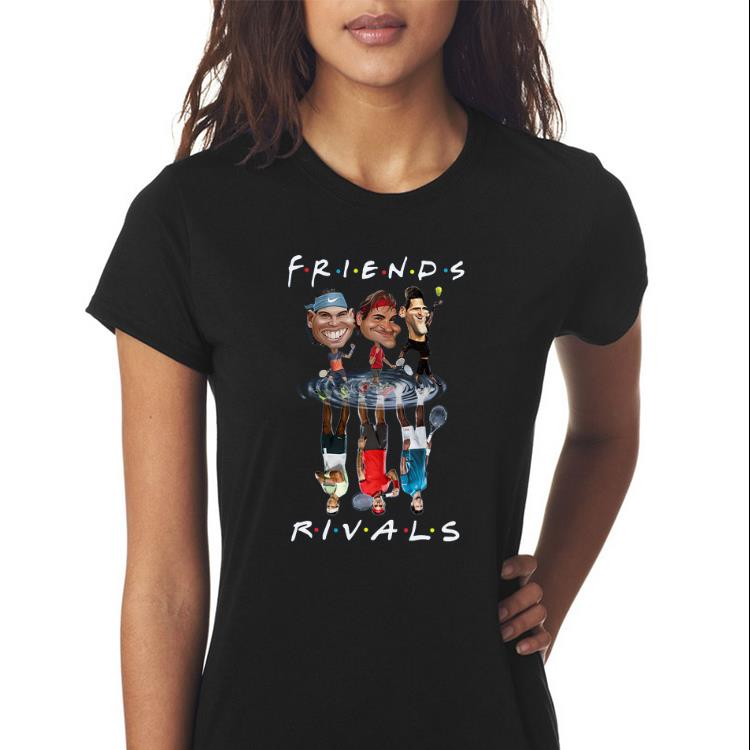 Awesome Novak Djokovic Roger Federer Rafael Nadal Friends Water Reflection Rivals Shirt Hoodie Sweater Longsleeve T Shirt