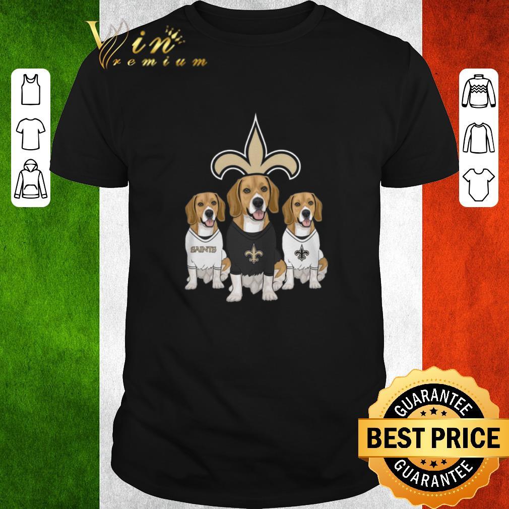 Funny Beagle Dogs New Orleans Saints Shirt 1 1.jpg