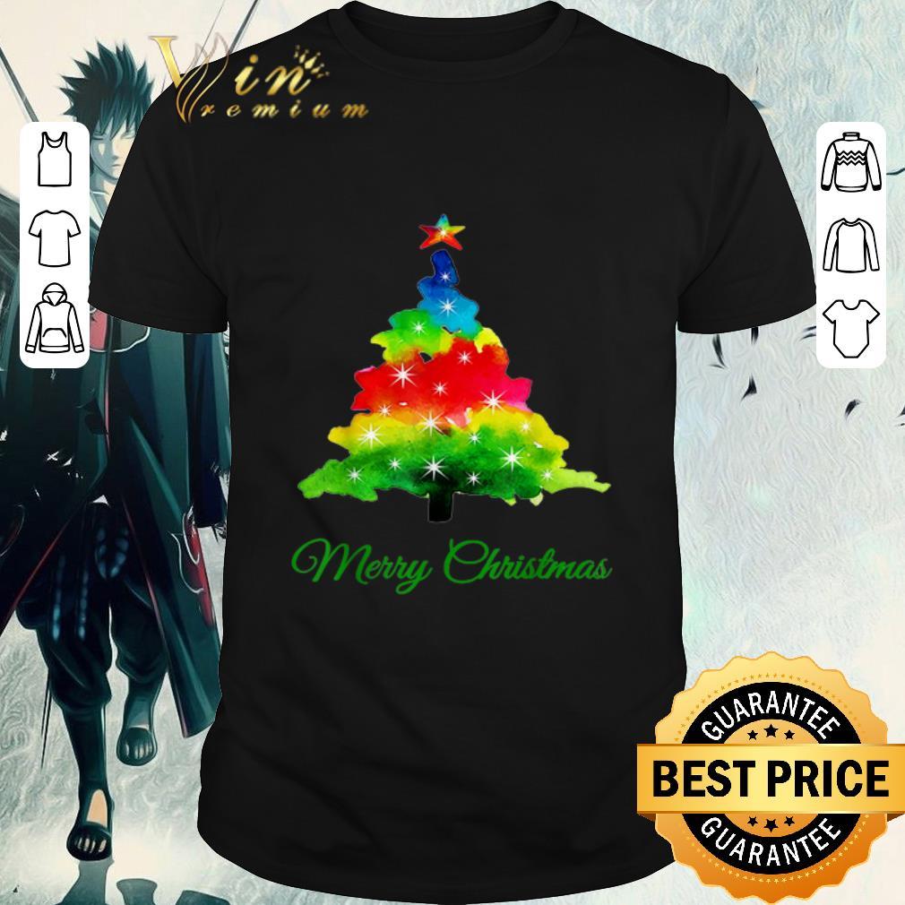 Funny Colorful Merry Christmas Tree Art Shirt 1 1.jpg