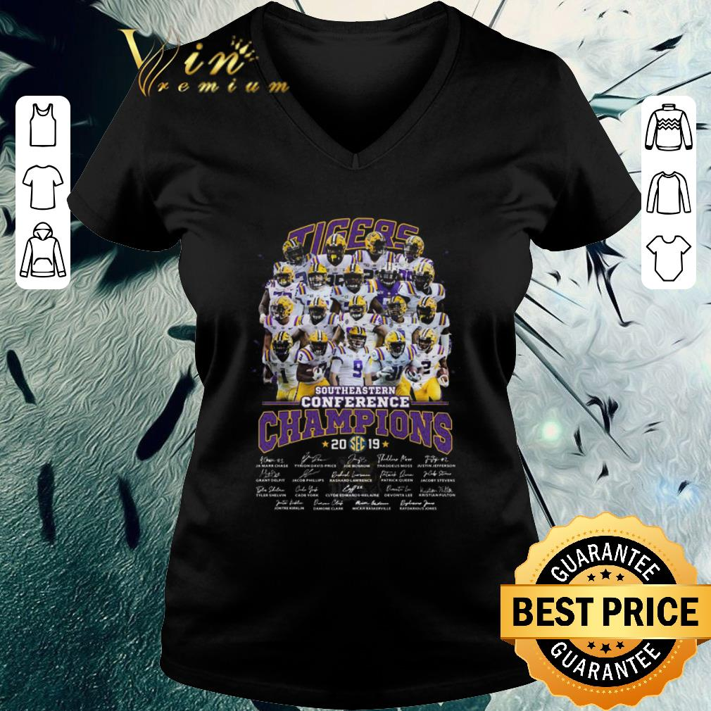 Funny Lsu Tigers Southeastern Conference Champions 2019 Signatures Shirt 3 1.jpg
