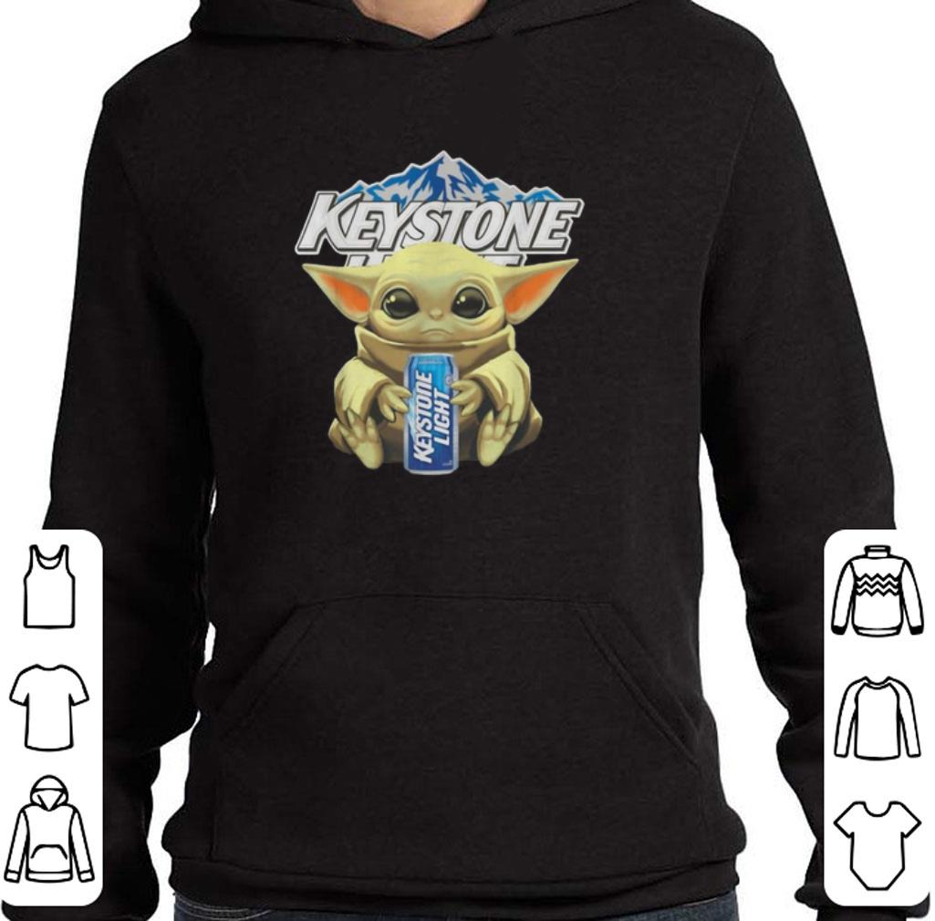 Hot Baby Yoda hug Keystone Light Star Wars Mandalorian shirt