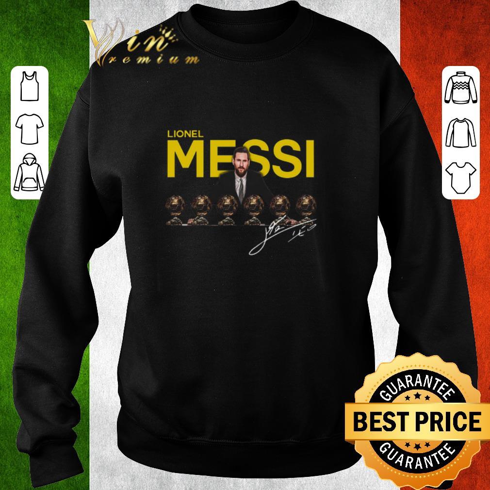 Hot Lionel Messi 6 golden ball signature shirt