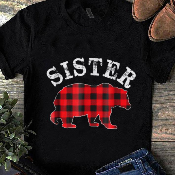 Hot Red Plaid Sister Bear Matching Buffalo Family Pajama Sweater 1 1.jpg