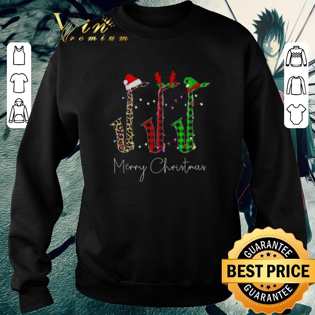 Hot Saxophone Merry Christmas Santa Reindeer Elf shirt