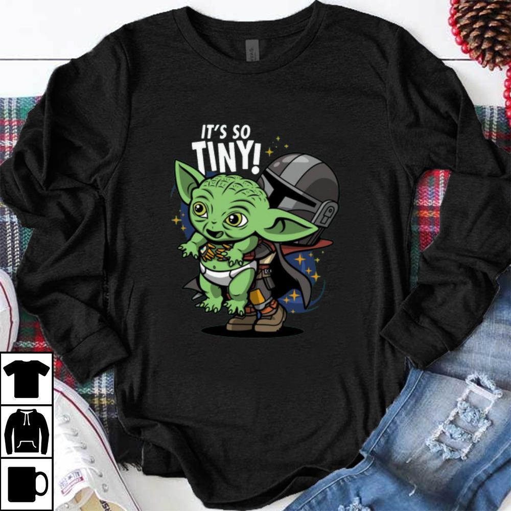 Hot Star War Stormtrooper And Baby Yoda It S So Tiny Shirt 1 1.jpg
