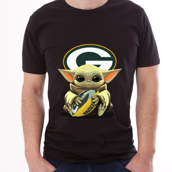 Official Baby Yoda Hug Green Bay Packers Shirt Hoodie Sweater Longsleeve T Shirt
