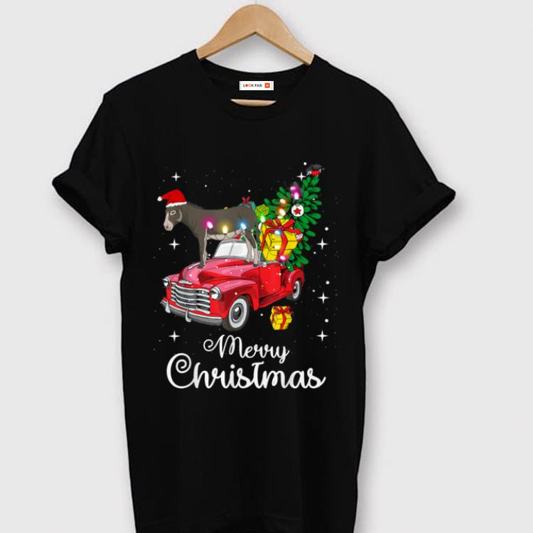 Official Donkey Rides Red Truck Christmas Pajama Sweater 1 1.jpg