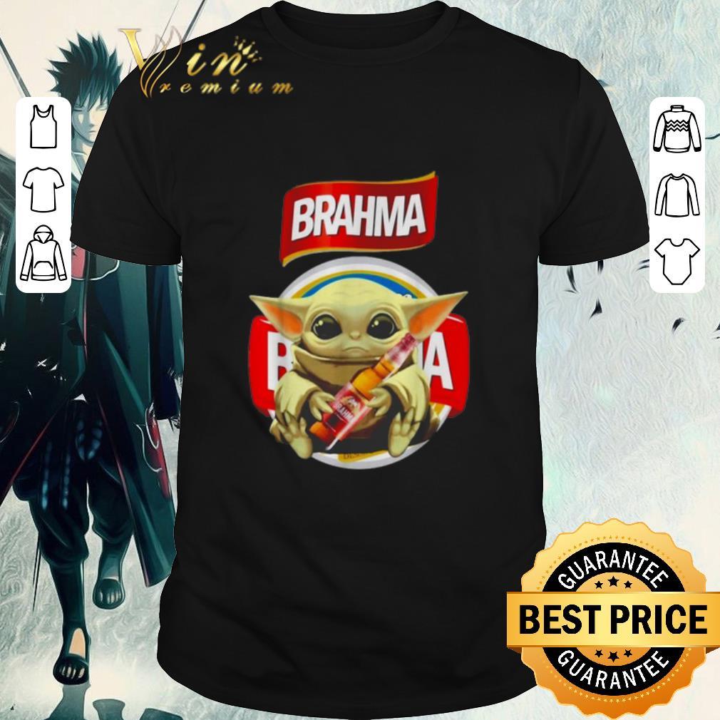 Official Star Wars Baby Yoda Hug Brahma Beer Mandalorian Shirt 1 1.jpg