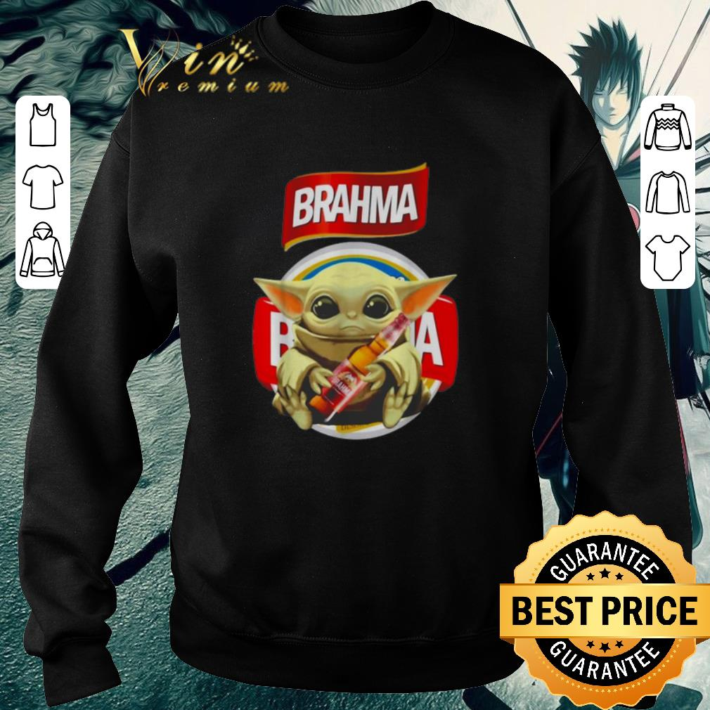 Official Star Wars Baby Yoda hug Brahma Beer Mandalorian shirt