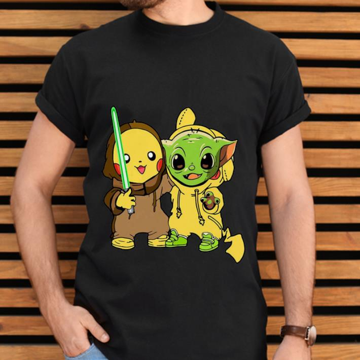 Premium Baby Yoda And Pikachu Shirt 2 1.jpg