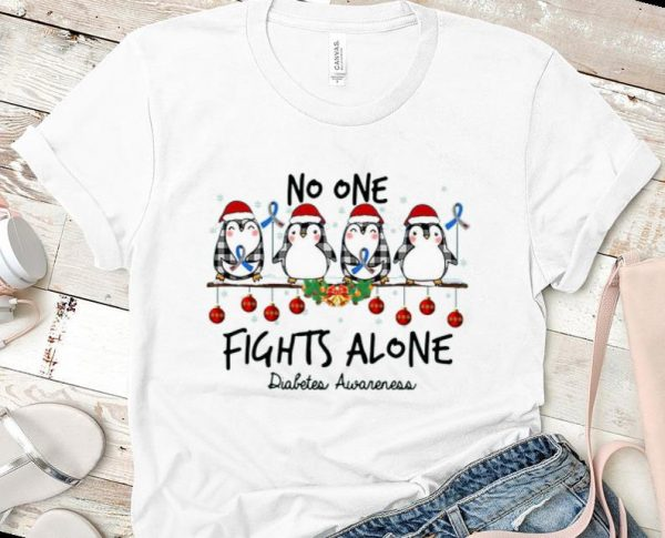 Top Penguin Santa No One Fights Alone Christmas Shirt 1 1.jpg