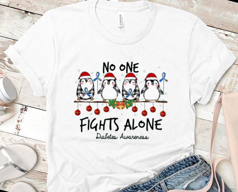 Top Penguin Santa No One Fights Alone Christmas Shirt 1 1.jpg