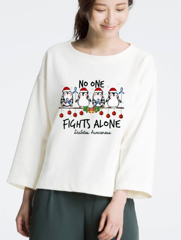 Top Penguin Santa No One Fights Alone Christmas Shirt 3 1.jpg