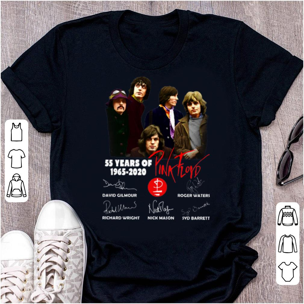 Awesome 55 Years Of Pink Floyd 1965 2020 Signatures Shirt 1 1.jpg