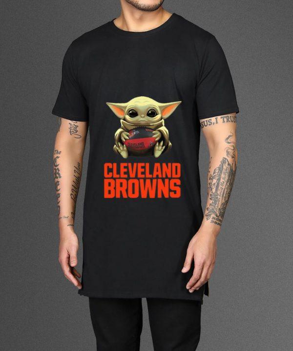 Premium Star Wars Football Baby Yoda Hug Cleveland Browns Shirt 2 1.jpg