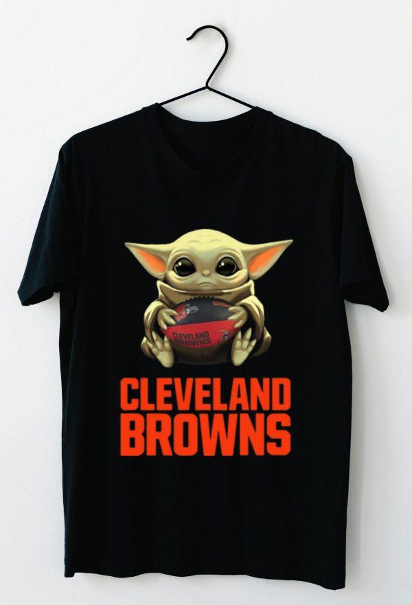 Premium Star Wars Football Baby Yoda Hug Cleveland Browns Shirt 3 1.jpg