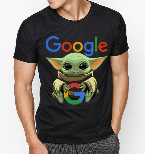 Pretty Star Wars Baby Yoda Hug Google Shirt 3 1.jpg