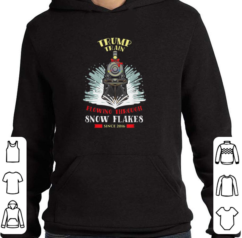Top Trump Train Flowing Through Snow Flakes Since 2016 shirt
