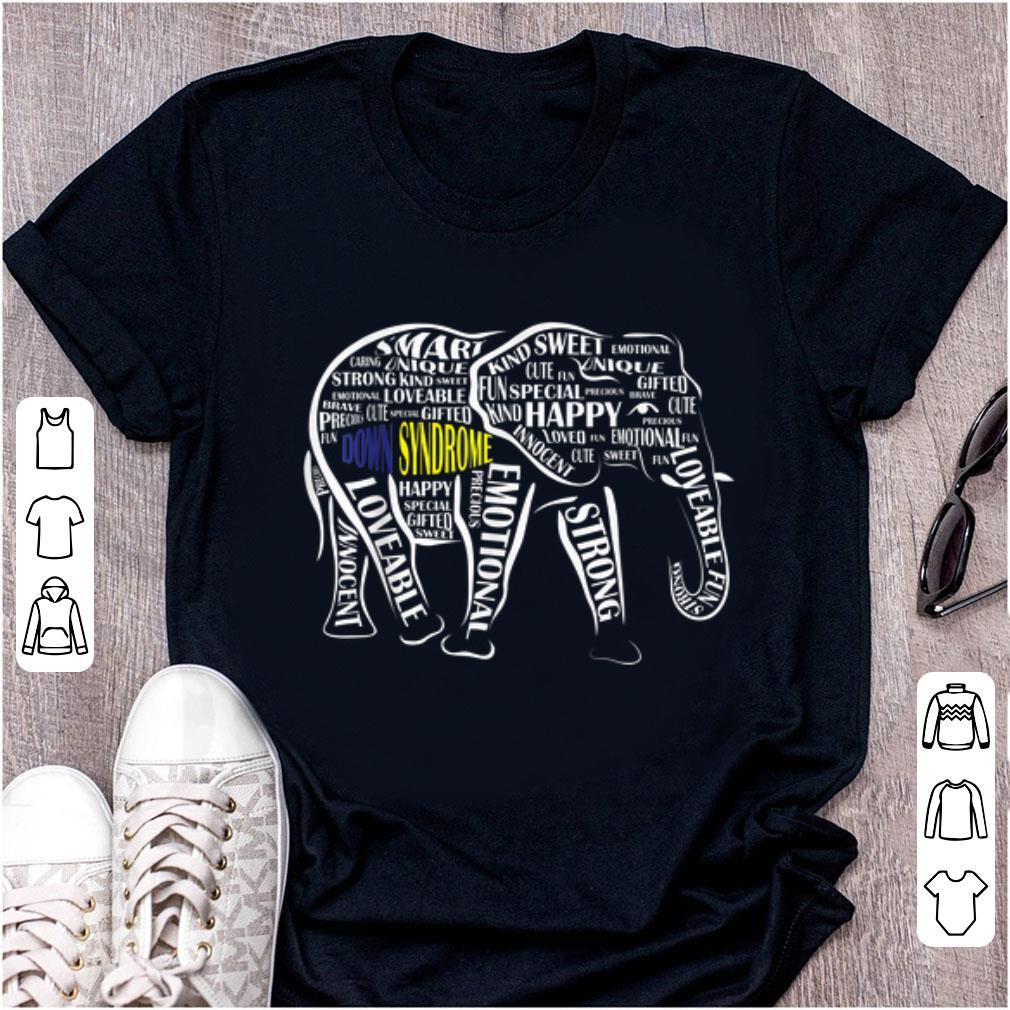 Awesome Down Syndrome Awareness Word Art Elephant Shirt 1 1.jpg