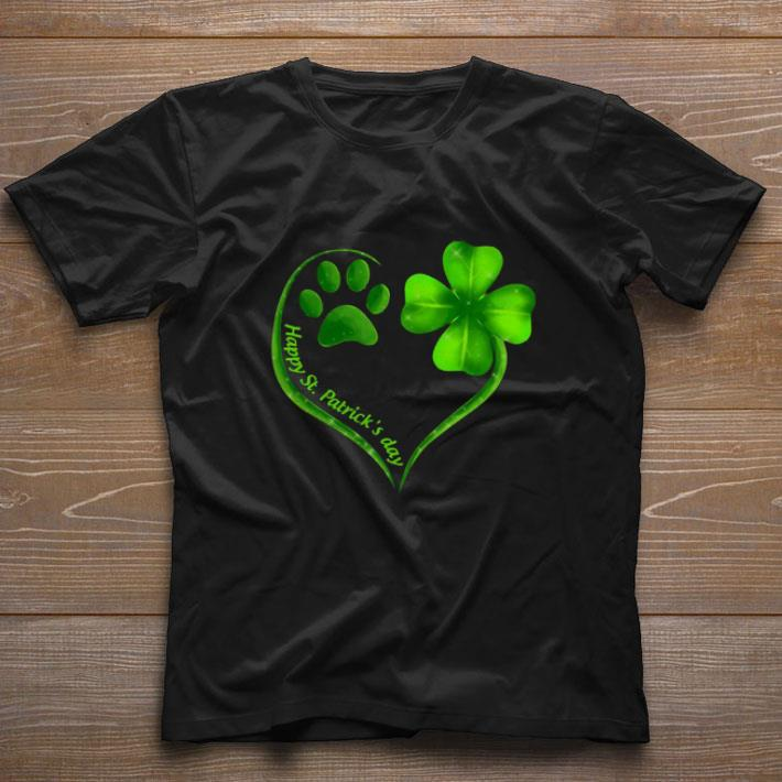 Awesome Love Dog Paw Heart Happy St Patrick S Day Shirt 1 1.jpg