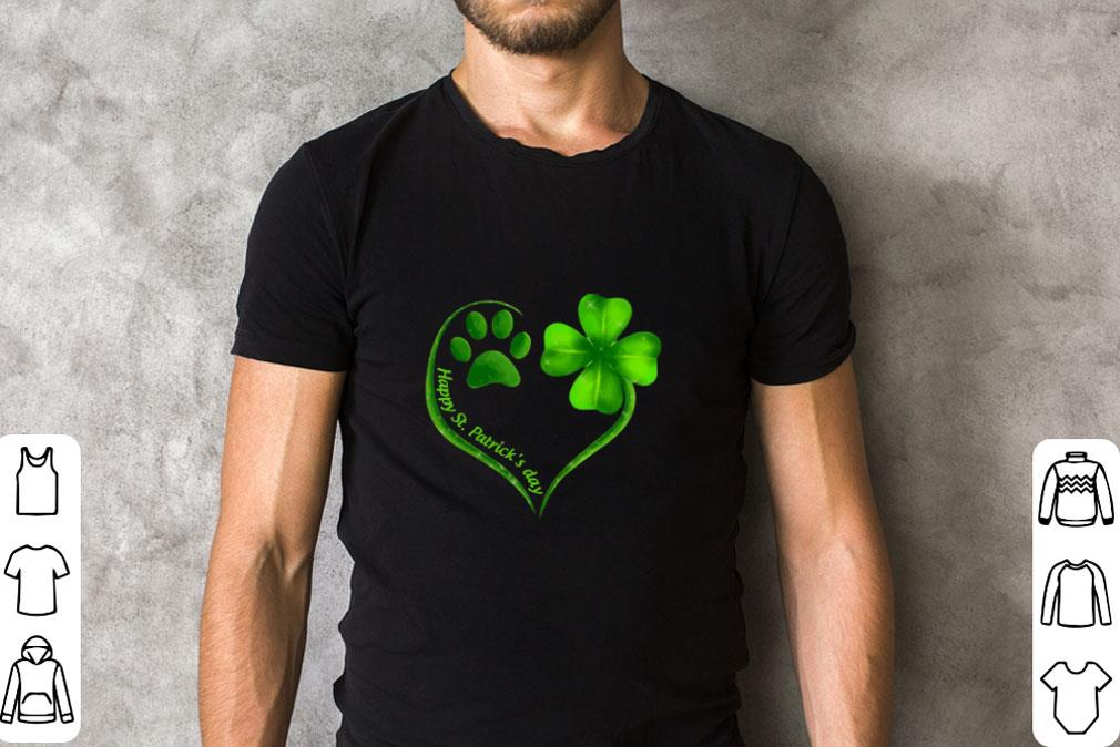 Awesome Love Dog Paw Heart Happy St Patrick S Day Shirt 2 1.jpg
