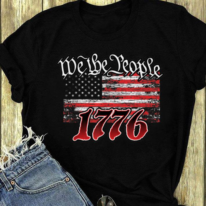 Awesome We The People 1776 American Flag shirt