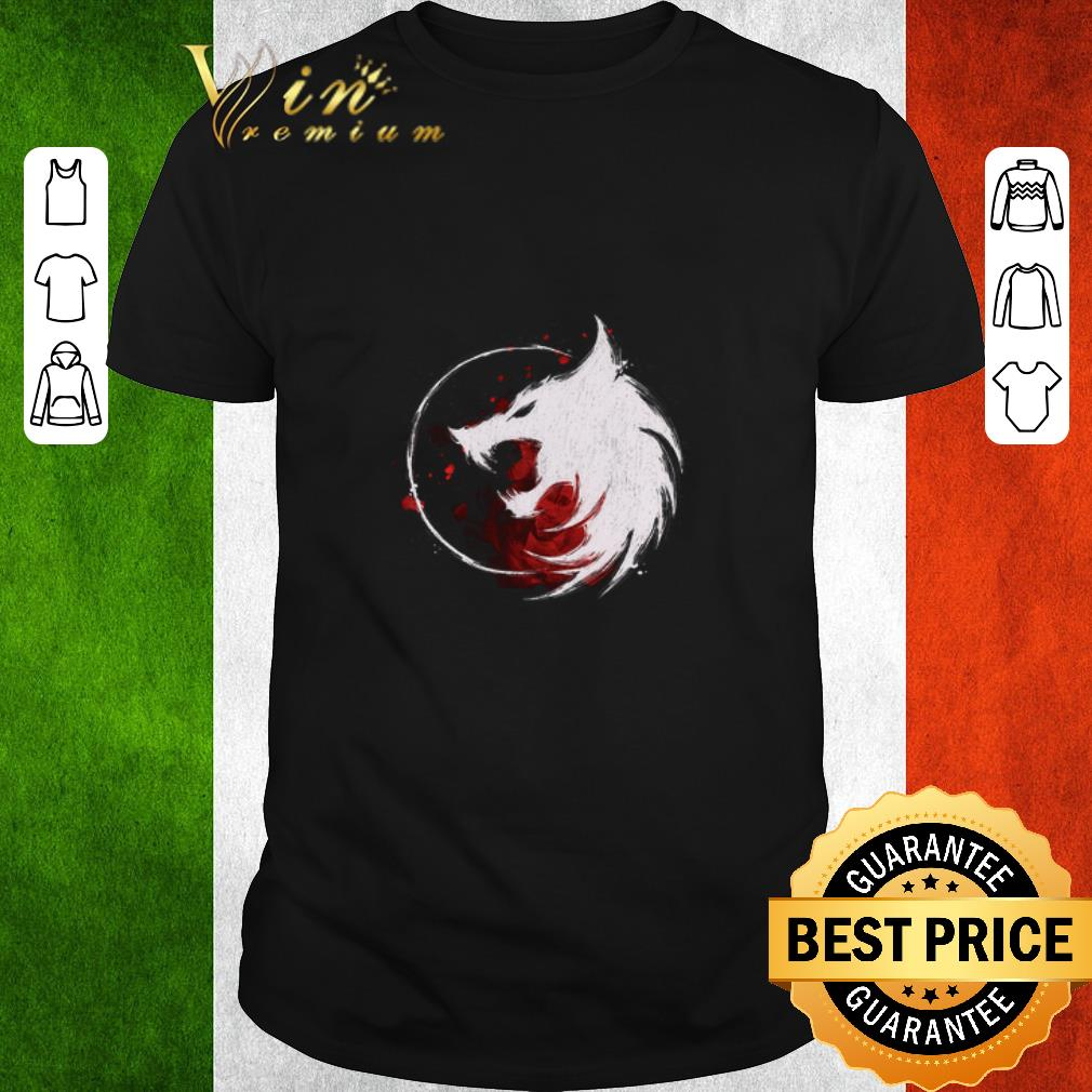 Funny White Wolf The Witcher Logo Shirt 1 1.jpg