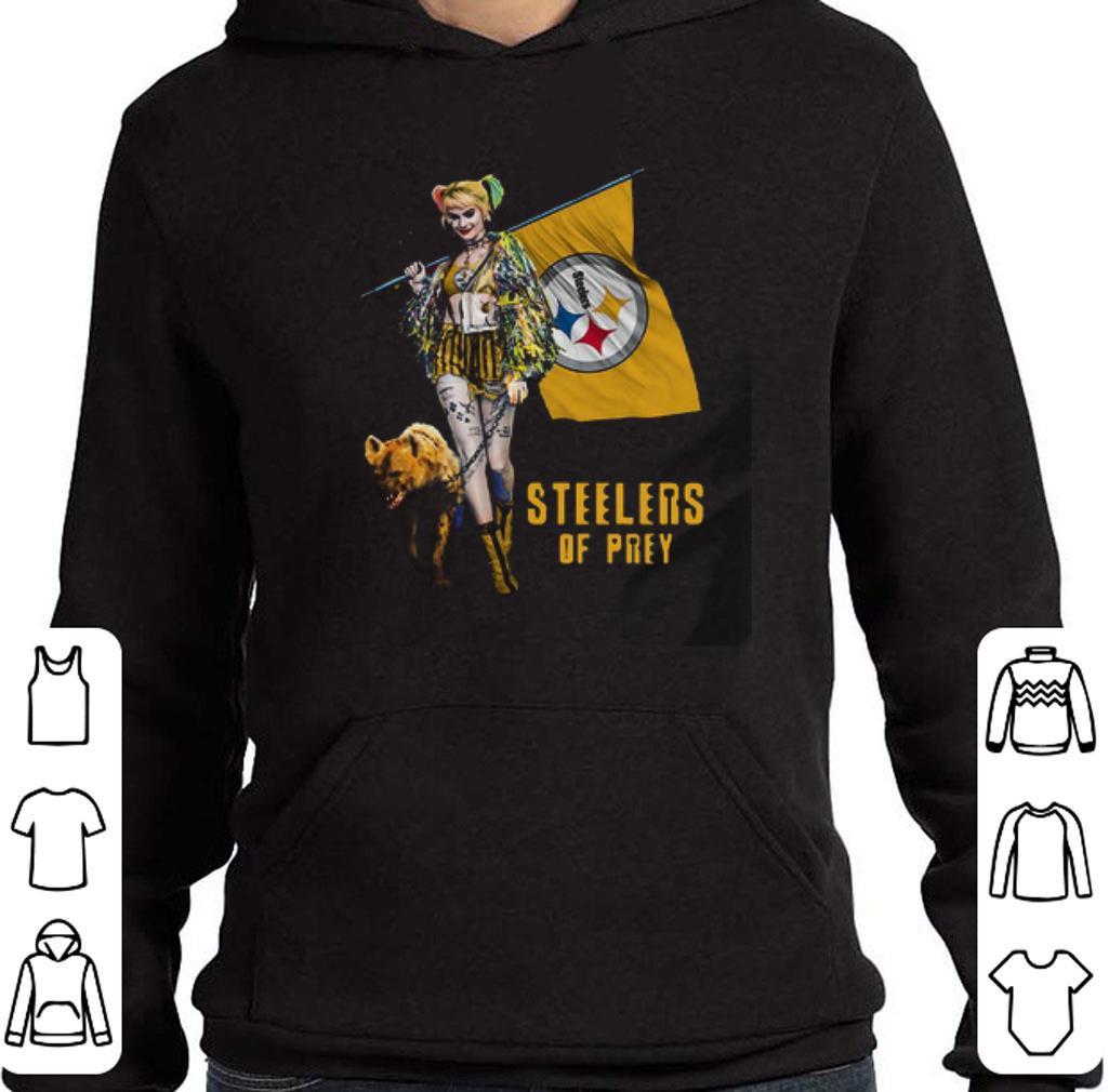 Official Harley Quinn Flag Pittsburgh Steelers Birds Of Prey shirt