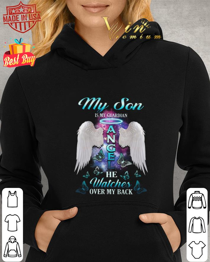 Premium Wings My Son Is My Guardian Angel He Watches Over My Back Shirt 2 1.jpg
