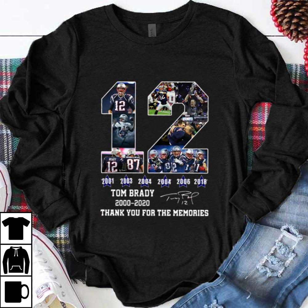 Awesome 12 Tom Brady 2000 2020 Thanks For The Memories Signatures Shirt 1 1.jpg