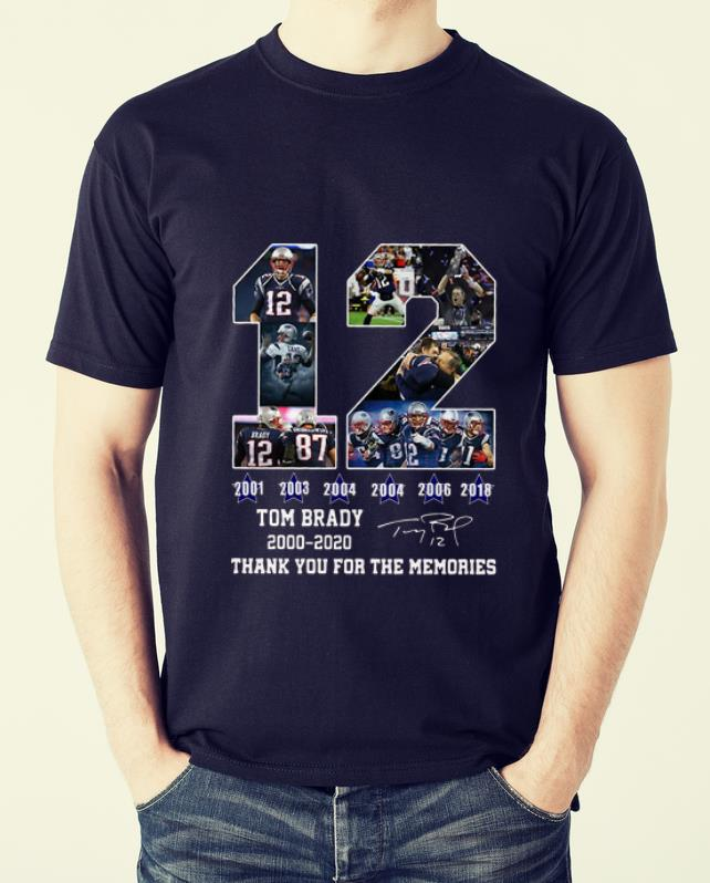 Awesome 12 Tom Brady 2000 2020 Thanks For The Memories Signatures Shirt 2 1.jpg