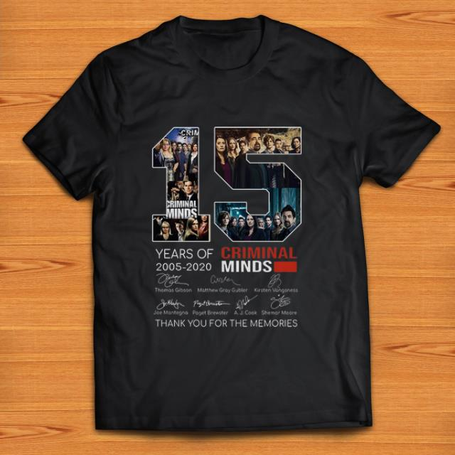 Awesome 15 Years Of Criminal Minds Signature And Thank You For The Memories Shirt 1 1.jpg