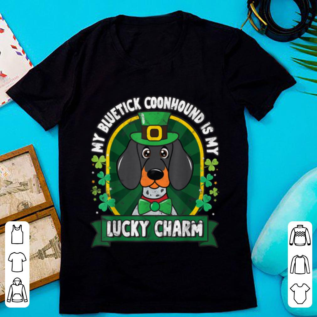 Awesome Bluetick Coonhound St Patricks Lucky Charm Mom Dad Gift Shirt 1 1.jpg