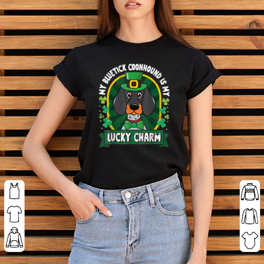 Awesome Bluetick Coonhound St Patricks Lucky Charm Mom Dad Gift Shirt 3 1.jpg