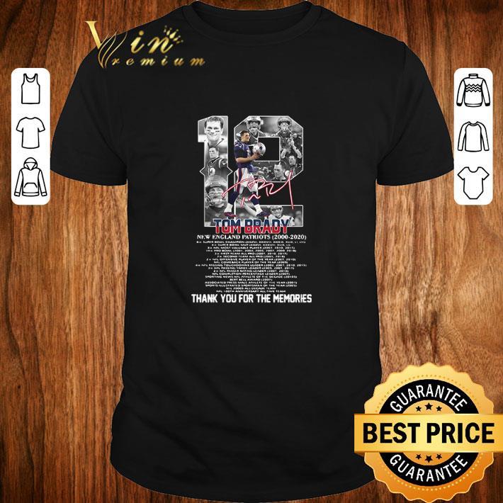 Funny Thank You For The Memories 12 Tom Brady New England Patriots 2000 2020 Signature Shirt 1 1.jpg