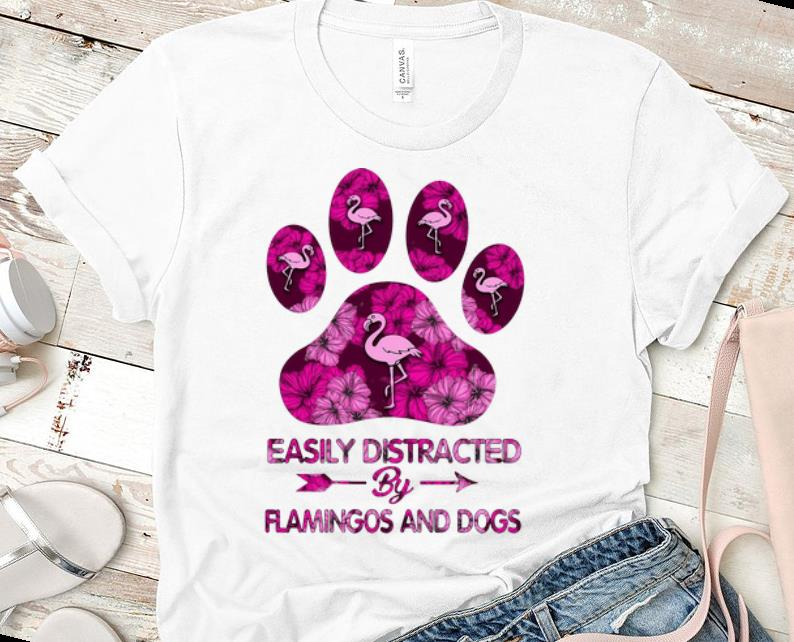 Hot Easily Distracted By Flamingos And Dogs Shirt 1 1.jpg